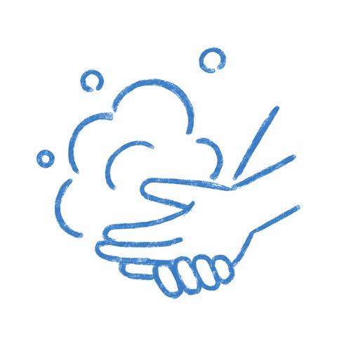 スタッフの手洗い・手指消毒の実施