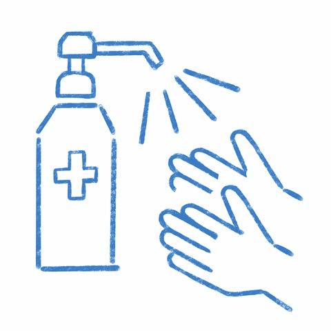 手指消毒液を設置